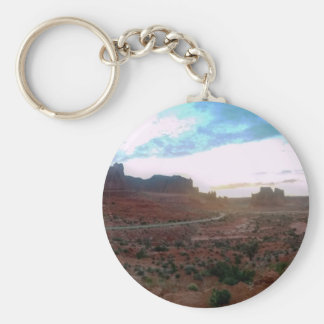 Arches National Park Viewpoint Basic Round Button Keychain