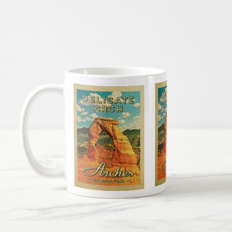 Arches National Park - Vintage Delicate Arch Coffee Mug