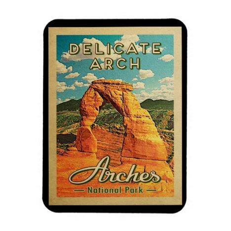 Arches National Park - Vintage Delicate Arch Magnet