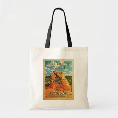 Arches National Park - Vintage Delicate Arch Tote Bag