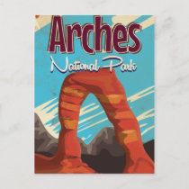Arches National Park Vintage Holiday Poster