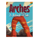 Arches National Park Vintage vacation Poster Postcard