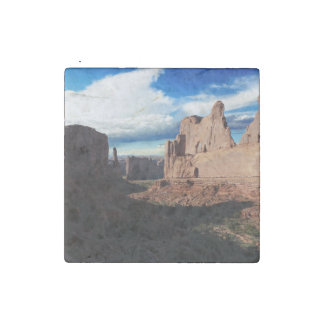 Arches National Park Wall Street Stone Magnet