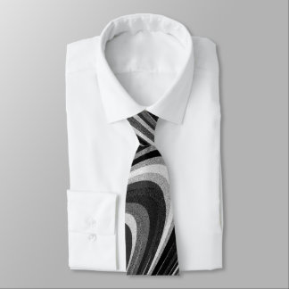 Arches of Black and White Neck Tie