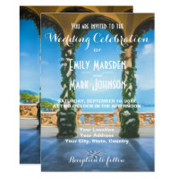 Arches of Italy Elegant Wedding Invitation