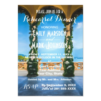 Arches of Italy Rehearsal Dinner Invitation