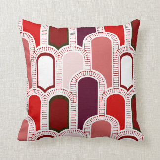 Arches-Plums, Solid back Throw Pillow