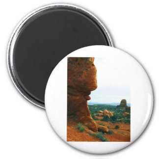 Arches rock sticks it's tongue out 2 inch round magnet