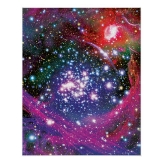 Arches Star Cluster Colorful Artist Impression Poster