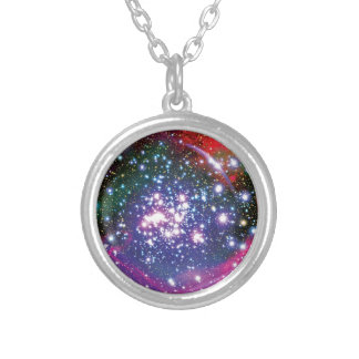Arches Star Cluster Silver Plated Necklace