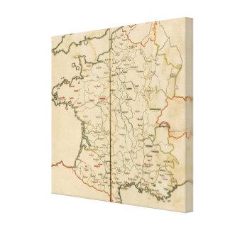 Archevechez, Evechez, France Canvas Print