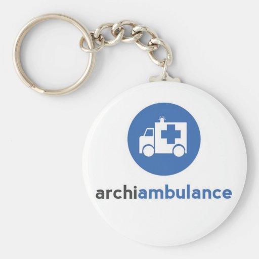 Archi-Ambulance Key Ring Basic Round Button Keychain