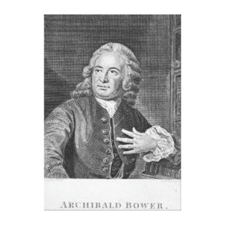 Archibald Bower, engraved by J. Hollonray Canvas Print