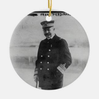 Archiduque Francisco Fernando de Austria Adorno Navideño Redondo De Cerámica