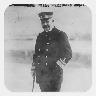 Archiduque Francisco Fernando de Austria Pegatina Cuadrada