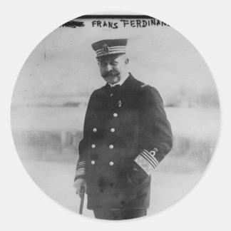 Archiduque Francisco Fernando de Austria Pegatina Redonda