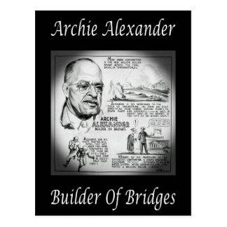 Archie Alexander ~ Mathematician/Engineer ~Builder Postcard