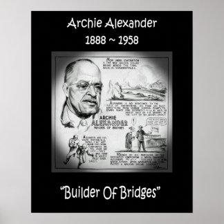 Archie Alexander ~ Mathematician/Engineer~Builder Poster