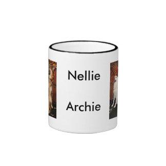 Archie and Nellie - German Shepherds Ringer Mug