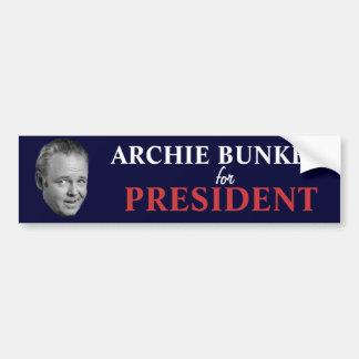Archie Bunker for President Bumper Sticker