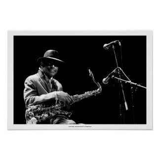 Archie Shepp 1 by P. Baud Banlieues Bleues 2010 P Poster