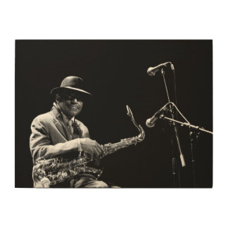 Archie Shepp 1 by P. Baud Banlieues Bleues 2010 W Wood Print