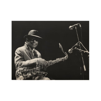 Archie Shepp 1 by P. Baud Banlieues Bleues 2010 WP Wood Poster