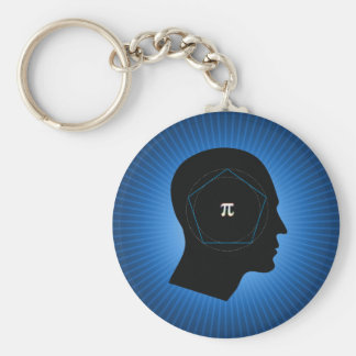 Archimedes' Approximation of Pi Keychain