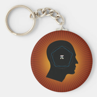 Archimedes' Approximation of Pi Keychains