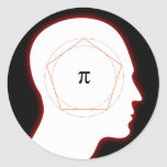 Archimedes' Approximation of Pi - Math sticker