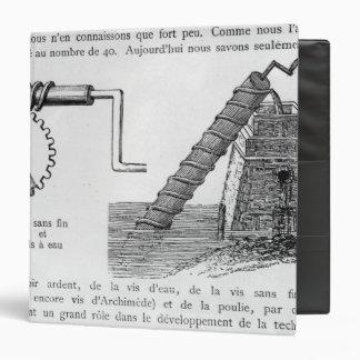 Archimedes screw binder