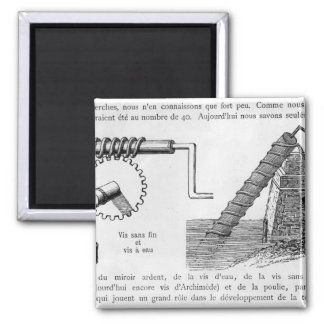 Archimedes screw magnet