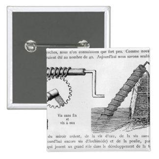 Archimedes screw pinback button
