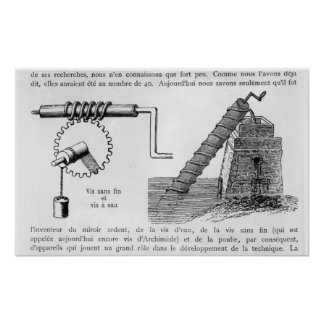 Archimedes screw poster