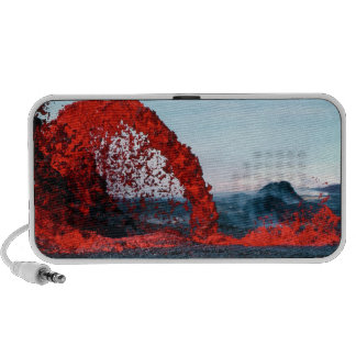 Arching Fountain of Lava from Pahoehoe Volcano iPhone Speakers