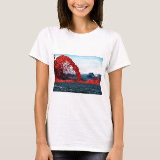 Arching Fountain of Lava from Pahoehoe Volcano T-Shirt