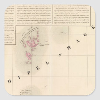 Archipel de Magellan Oceanie ningún 1 Pegatina Cuadrada