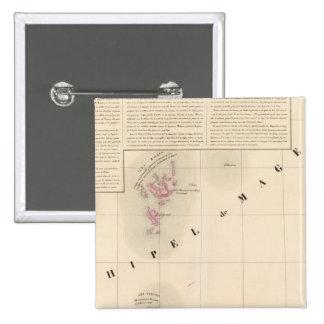 Archipel de Magellan Oceanie no 1 2 Inch Square Button