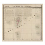 Archipel de Magellan Oceanie no 1 Print