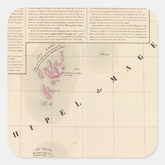 Archipel de Magellan Oceanie no 1 Square Sticker