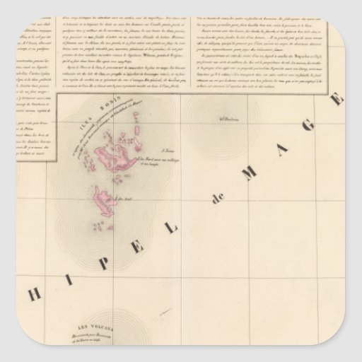 Archipel de Magellan Oceanie no 1 Sticker