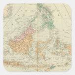 Archipiélago asiático 3 pegatina cuadrada