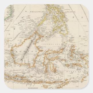 Archipiélago asiático pegatina cuadrada
