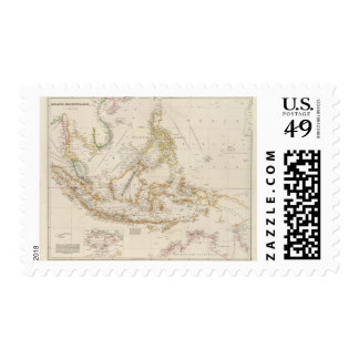 Archipiélago asiático sello postal