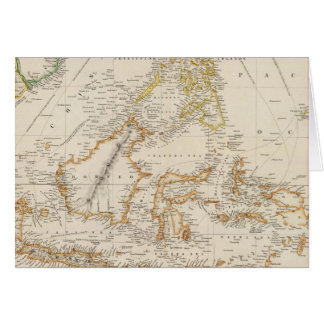 Archipiélago asiático tarjeta de felicitación