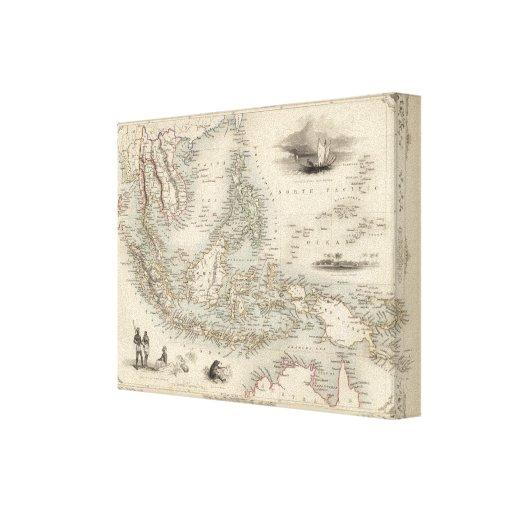 Archipiélago de Malay, o islas del este de la Indi Impresión En Lona Estirada
