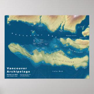 """Archipiélago de Vancouver--24"""" x18 """" Póster"""