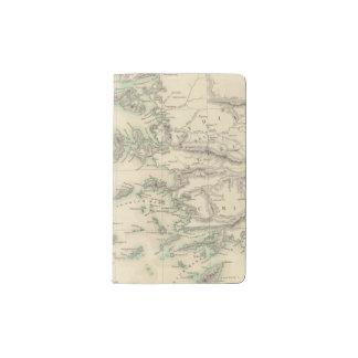 Archipiélago griego, antiguo funda para libreta y libreta pequeña moleskine