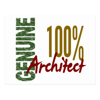 Architect 100% Genuine Postcard