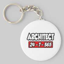 Architect 24-7-365 basic round button keychain